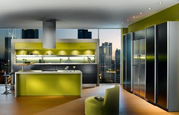Cocinas moderna verde y gris casa web - Webs de cocina mas visitadas ...