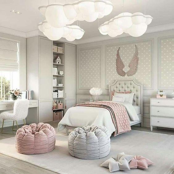 dormitorio elegante y lujoso para niñas