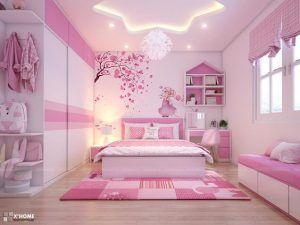 dormitorio rosa para nena moderno elegante