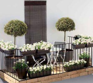 balcones con masetas