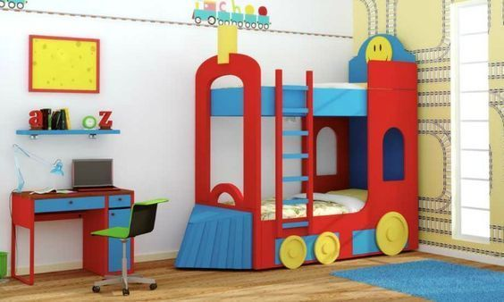 cama tren para niños