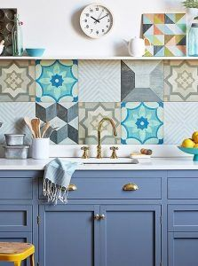ceramicas estampadas para pared de cocina