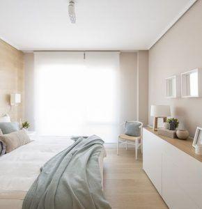 dormitorio con paredes tonos calidos y pasteles