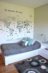 dormitorio juvenil chico muebles blancos
