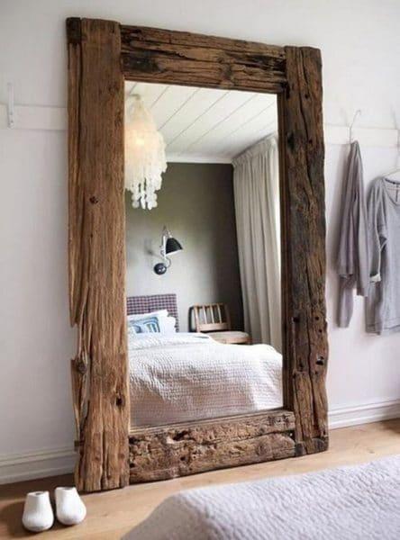 espejo marco madera reciclada