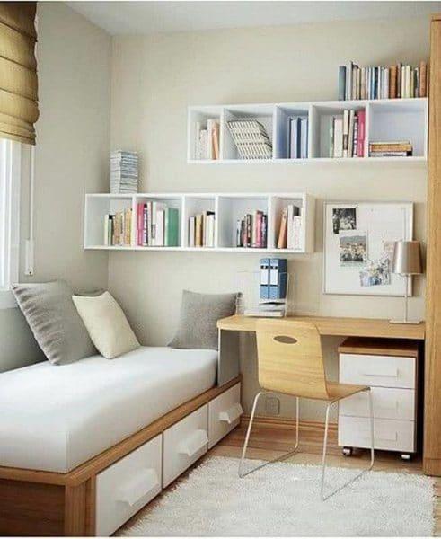 habitacion juvenil pequeña muebles modernos