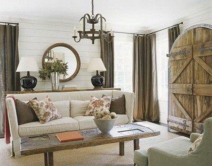 living rustico tonos claros casa web. Black Bedroom Furniture Sets. Home Design Ideas