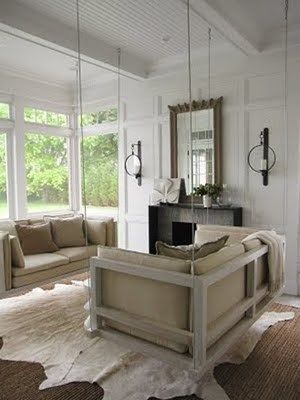 Living rustico moderno casa web for Sillones rusticos para living