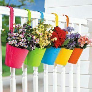 masetas de colores para balcon