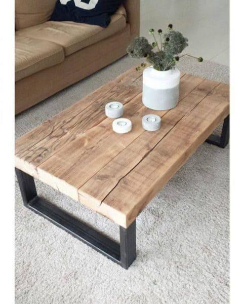 mesa ratona de madera reciclada