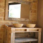 mueble baño de madera reciclada