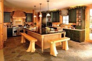 cocina moderna estilo countruy con muebles de pino