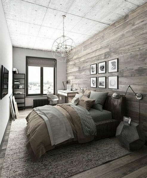 dormitorio matrimonial rustico moderno