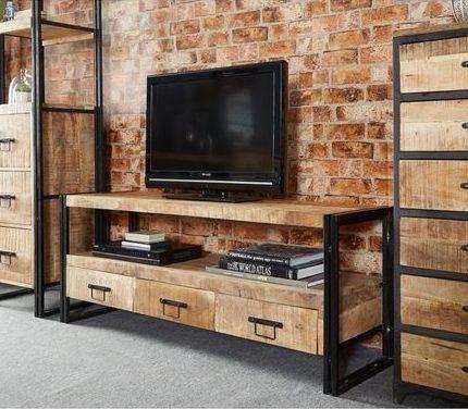 mueble para televisor estilo industrial e1541981284425