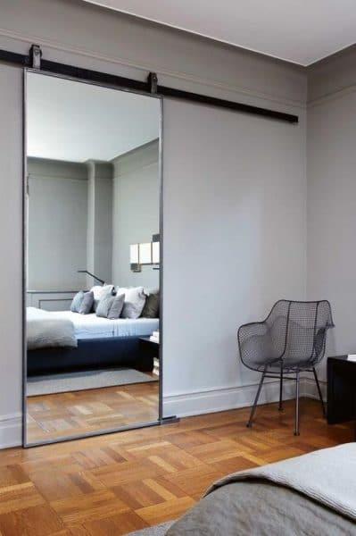 puerta corredera de espejo