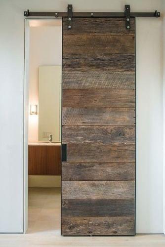 puerta corredera estilo granero moderna