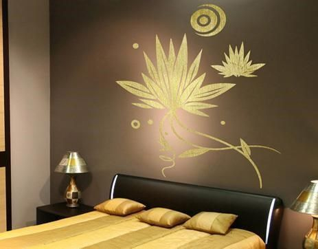 Vinilo decorativo pared dormitorio casa web - Pegar vinilo en pared ...