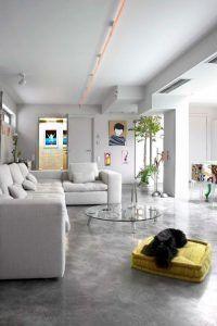 casa moderna con cemento alisado