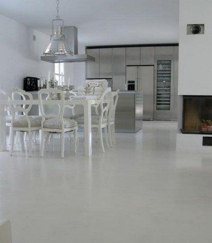 Piso cemento alisado blanco casa web for Hormigon pulido blanco