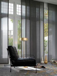 cortinas con paneles para sala de estar