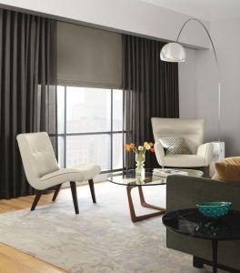 cortinas largas para sala de estar