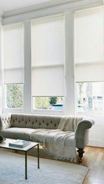 cortinas roller en el living