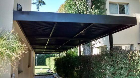 galeria con techo de aluminio