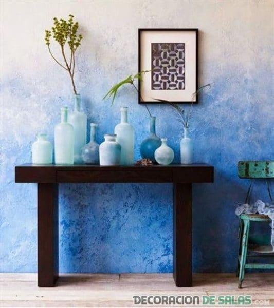 pared pintada con tecnica de esponjado