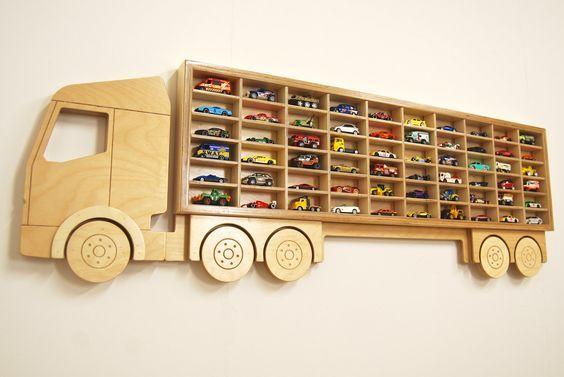 repisa infantil camiones y autos
