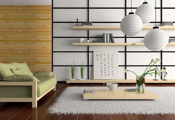 sala de estar moderna japonesa