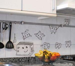 vinilo decorativo en la cocina