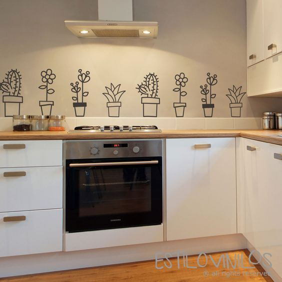 Pegatinas decorativas cocina casa web - Pegatinas para cocina ...