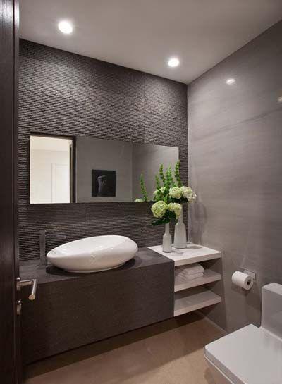 baños con diseños modernos en blanco y gris