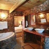 Diseño para baño o sauna de piedras naturales