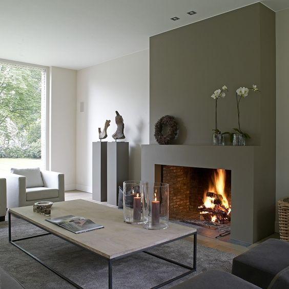 chimenea interior moderna