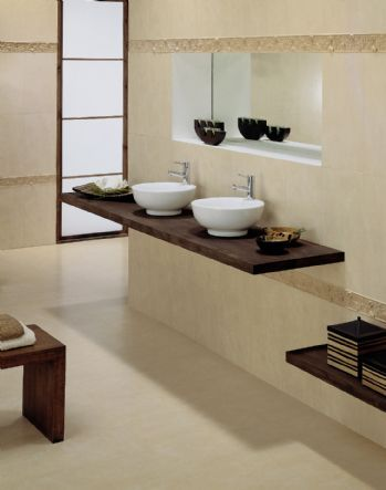 Decoracion de ba os dise os modernos casa web for Banos en blanco y beige