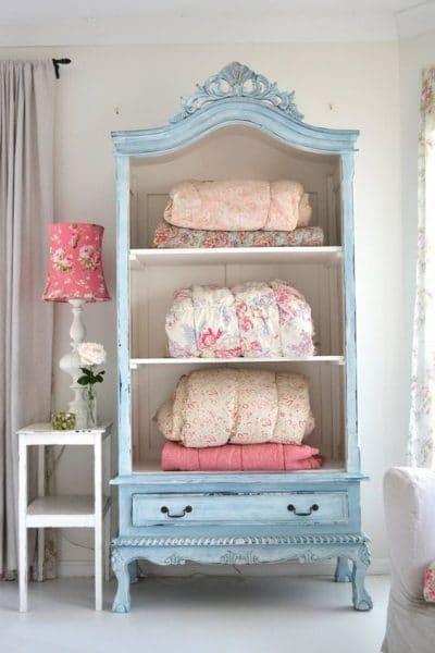 muebles con estantes estilo vintage