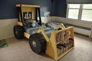 cuato original para niños maquina excavadora