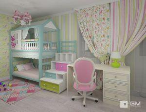 dormitorio para dormir jugar y estudiar para nenas