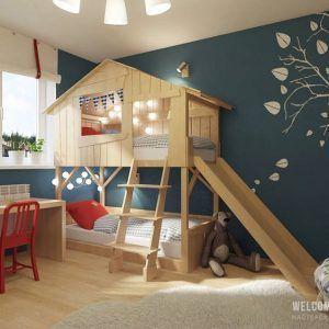 dormitorio para dormir jugar y estudiar para nenes