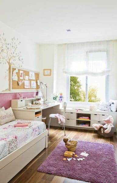 dormitorio para dormir jugar y estudiar pequeño para nenas
