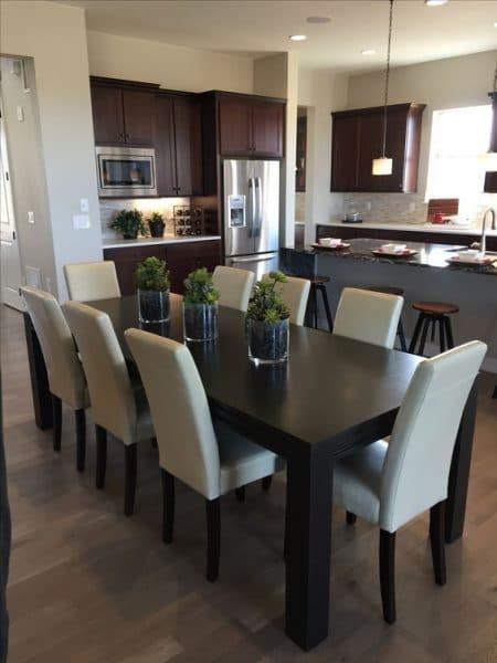 mesa comedor de madera wengue - Casa Web