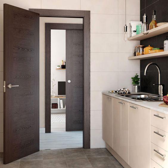 puertas de de madera wengue