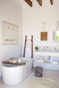 baño blanco relajante