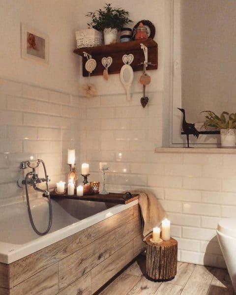 baño relajante moderno rustico