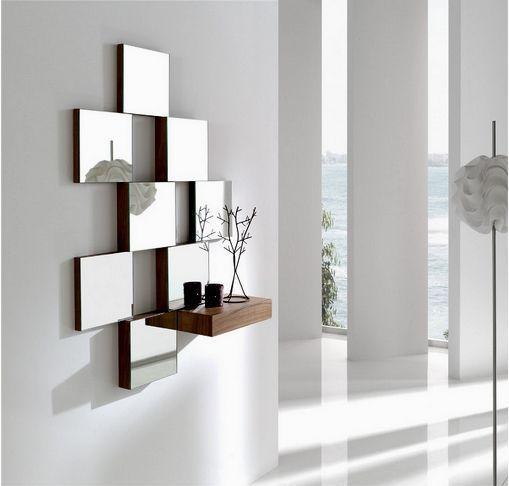decorar con espejos espejo minimalista moderno