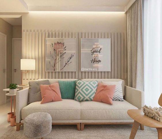 sala de estar romantica