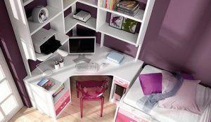 escritorio juvenil en esquina chico