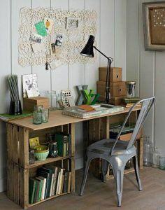 escritorio juvenil reciclado