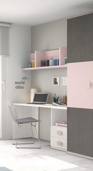 Estilos para los escritorios juveniles casa web - Habitacion juvenil nina ...